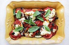 This is sure to be your new favourite healthy comfort food! Just eggplant, Napoletana sauce, ricotta or basil - so simple and so delicious!