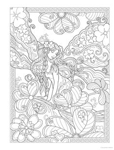 Adult Coloring Book Creative Haven Magical Fairies Coloring Book (Creative Haven Coloring Books) Detailed Coloring Pages, Fairy Coloring Pages, Adult Coloring Book Pages, Printable Adult Coloring Pages, Creative Haven Coloring Books, Painting, Kids Coloring, Minecraft Houses, Zentangle