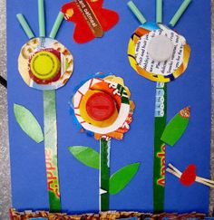 "Craft a garden out of recycled materials to welcome spring and Earth Day. Answer the question, ""What is Earth Day about?"" with a fun, environmentally friendly craft."