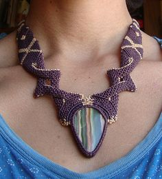 collar con fluorita peruana by ☀ Flores y Colores ☀, via Flickr