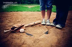 baseball save the date, with boots!