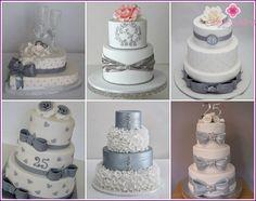 Tortu na striebornom svadbe - nápady s fotografiami