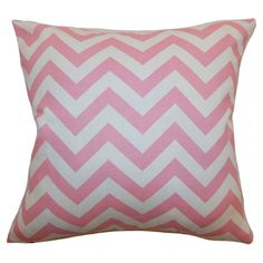 Cotton pillow with chevron motif.     Product: PillowConstruction Material: Cotton and 95/5 down fillColor...