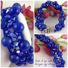 Cobalt Jade Swarovski Gemstone Bracelet