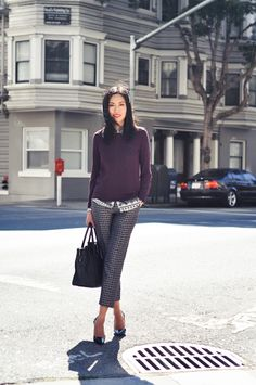 9to5Chic: Printed Trousers