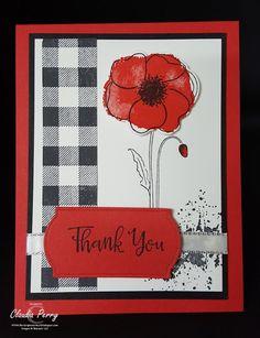 Stamping in Columbus, GA: Painted Poppies Handmade Thank You Cards, Greeting Cards Handmade, Diy Cards, Your Cards, Poppy Cards, Pumpkin Cards, Scrapbook Cards, Scrapbooking, Craft Night