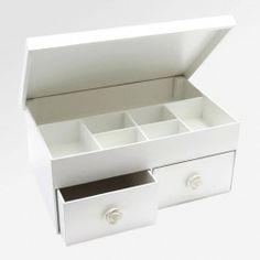 Caixa para Organizar Bijus e Maquiagem Branco