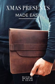 Xmas preparation can be easy! Be got you covered with our customisable vegetable tanned leather bag for him. Laptop sleeves, business bags, satchel, travel bags. Just choose your favorite design, inside print and engrave the initial of your special one. We'll take care of sending the present with a nice package. Happy Holiday! #fashion #style #buckleandseam #xmas #xmasgifts #lifehacks #leatherbag #vegetabletanned #mensfashion #easygift #christmas #present #christmasgift #giftforhim