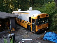 Slanted section after roof lift - School Bus Conversion Resources