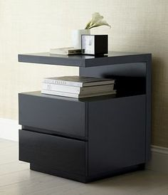 Pavillion Black Nightstand -- like the style ... not so much the color