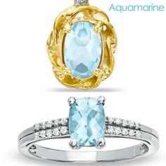 Do you like Gold or Silver for Aquamarine?  #aquamarine #birthstone #jewelry