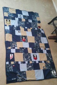 Navy Military Uniform Quilt