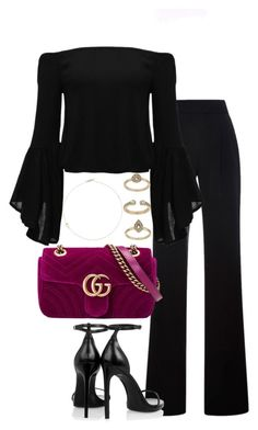 """Untitled #3077"" by theeuropeancloset on Polyvore featuring Misha Nonoo, Gucci, Yves Saint Laurent, Jack Vartanian and Topshop"