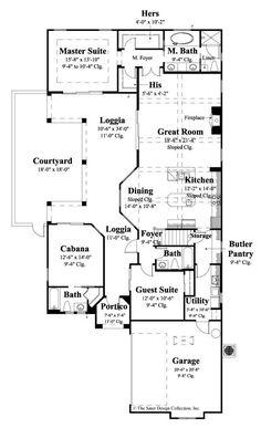 Casoria House Plan  Courtyard entry House and Exterior