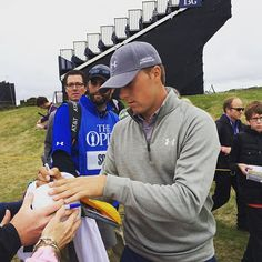 Instagram photo by @golfingworld (Golfing World) | Iconosquare Jordan Spieth Golf, Sports Highlights, Golfers, Golf Tips, Horns, Beautiful Men, Athlete, Leaves, Instagram