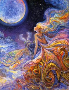 """Fly me to the Moon 3"" par Josephine Wall"