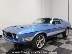 1973 Ford Mustang This is my favorite year or the Mach 1973 Mustang, Mustang Fastback, Ford Mustang Shelby, Mustang Cars, Blue Mustang, Ford Mustangs, Mustang Restoration, Small Luxury Cars, Classic Mustang