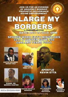 Enlarge My Borders Conference - - Christian Professional Network Event By SPOKEN WORD FAITH MINISTRIES