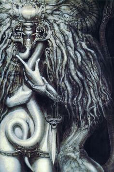 Danzig - How the Gods kill, cover di H.R. Giger, padre di Alien e dell'arte 'biomeccanica'. su http://cultstories.altervista.org/arte-giger-musica/ #art #music #cultstories Cult Stories