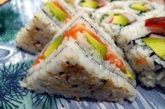 Whole Foods debuts sushi sandwich, or onigirazu - Business Insider Sushi Recipes, Asian Recipes, Whole Food Recipes, Great Recipes, Cooking Recipes, Ethnic Recipes, Rice Recipes, Bento, Sushi Sandwich