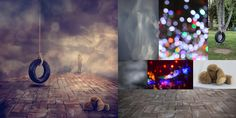 Tracy Williams shows before and after images of her surreal fine art.
