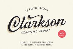 Clarkson Script by AF Studio on @creativemarket
