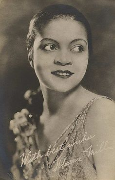 """Florence Mills - known as the """"Queen of Happiness,"""" was a popular and internationally acclaimed African American cabaret singer, dancer, and comedian. For more on the African American experience visit Discover Black Heritage."""