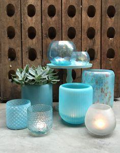 Kleurrijk glaswerk helder en mat. Mat glaswerk geeft prachtig diffuus licht.