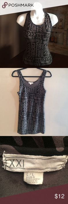 XXI bodycon dress Black and taupe Aztec dress. Normal wear. No flaws. In good condition Dresses Mini