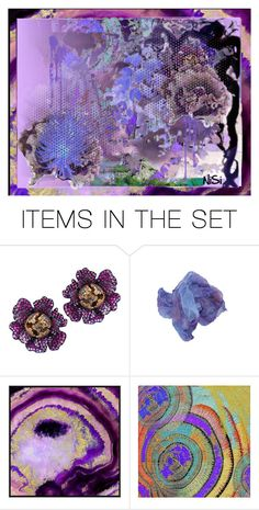 """PURPLE GARDEN"" by gem-aqleo ❤ liked on Polyvore featuring art"
