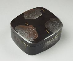 A Japanese black lacquer box (c. 1870 to c. 1880 Japan)