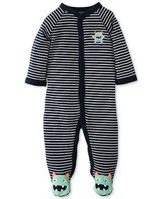 Carter's Baby Coverall, Baby Boys Striped Monster Sleep 'N' Play - Kids Baby Boy (0-24 months) - Macy's