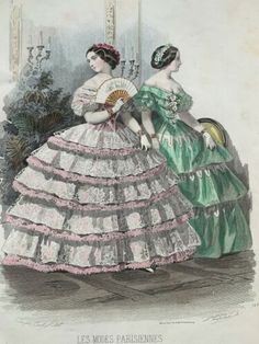 19th Century Fashion, Western Outfits, S Man, Fashion Plates, Hand Coloring, Fashion Prints, French Antiques, Sewing Crafts, Fashion Ideas