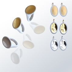 Bernardaud - Ellipse collection #bernardaud #porcelaine #porcelain #jewelry #bijoux