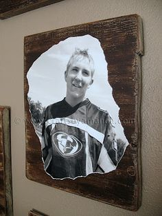 Photo on rustic wood