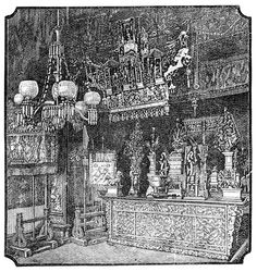 San Francisco Pictures: Interior of Chinese Joss-House