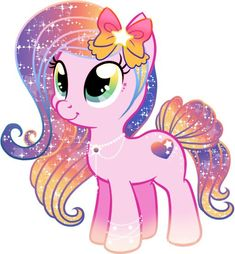 Star heart is the sister of Emrald. She is a cheerful and sweet pony. She is a little but clumsy like her sister. She loves love like her mom. Adoptable