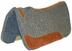 Felt Western saddle pad - leather areas
