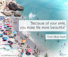 It's so true. You're smile brings joy, so do it as often as possible.  www.30Fifteen.co.uk 30Fifteen | Tennis | Fitness | Health | Quote