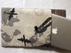 """Housse de protection pour ordinateur portable avec écran 13,3"""" motif avions (MacBook Pro ou pc) : Housses ordinateurs et tablettes par pascaline-creations"""