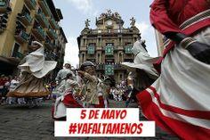 ¡Ya falta menos! Gutxiago falta da! Hoy es 5 de mayo y subimos otro escalón sanferminero #sanfermines #Pamplona