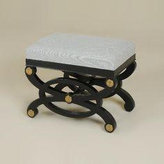Love this bench! - Henrietta Spencer-Churchill for Maitland-Smith. Fine Furniture, Furniture Design, Outdoor Furniture, Outdoor Decor, Maitland Smith, Empty Wall, Vanity Bench, Chinoiserie, Ottoman