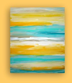 "Art,Painting,Abstract,Original Abstract Painting, Modern,Paintings, Fine Art  Gallery Canvas Titled: LEMONDROP. 30x36x1.5"" by Ora Birenbaum"