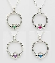 July Giveaway: Win our signature silver Claddagh Birthstone Pendant