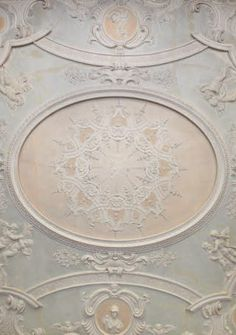 The Saloon ceiling at Clandon Park, Surrey