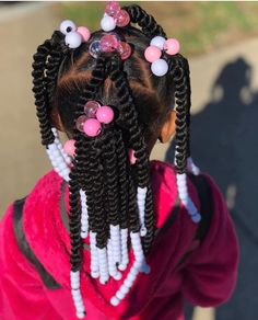 Best and Stunning Braids for Your Darling Daughter - Beta Protocol Little Girls Ponytail Hairstyles, Little Girl Ponytails, Toddler Braided Hairstyles, Girls Natural Hairstyles, Baby Girl Hairstyles, Natural Hairstyles For Kids, Natural Hair Styles, Black Little Girl Hairstyles, Black Hairstyles