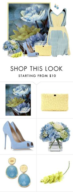 """""""lotus"""" by concettodimoda ❤ liked on Polyvore featuring WALL, Prada, Dolce&Gabbana, Giuseppe Zanotti, Diane James, Marco Bicego, autismawareness and LIGHTITUPBLUE"""