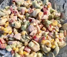 Tortellini, Polish Recipes, Food Design, Pasta Salad, Vegetarian Recipes, Food And Drink, Menu, Lunch, Vegetables