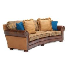 Norfolk Sofa  Love the sofa, but I could do without the electric blue pillows... what's up with that?