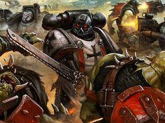 Black Templar purging some foul Xenos Warhammer 40k Memes, Warhammer Art, Warhammer Models, Warhammer Fantasy, Warhammer 40000, Skull Artwork, Comics Universe, The Grim, Space Marine